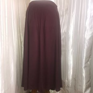H&M Burgundy Skirt